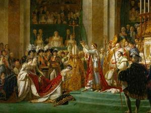 Coronation of Napoleon in Notre-Dame De Paris by Pope Pius VII, December 2, 1804 by Jacques-Louis David