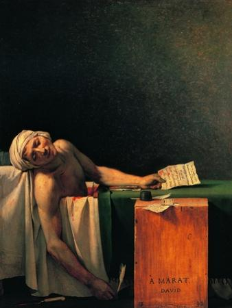 Death of Marat by Jacques-Louis David