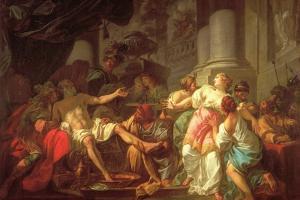 Death of Seneca by Jacques-Louis David