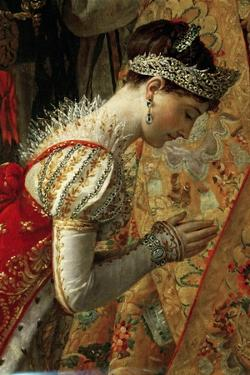 Empress Joséphine (The Coronation of Napoleon, Detai) by Jacques Louis David