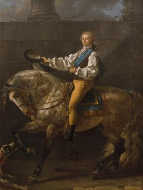 Equestrian Portrait of Stanislaw Kostka Potocki (1755-182) by Jacques Louis David