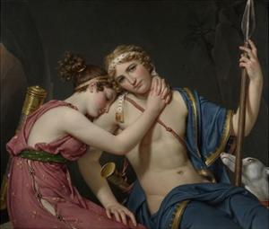 Farewell of Telemachus and Eucharis, 1818 by Jacques-Louis David