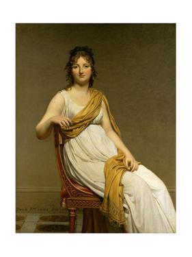 Henriette Verniac, nee Henriette Delacroix, soeur d'Eugene Delacroix. 1798/99. Canvas 145,5 x 112cm by Jacques Louis David