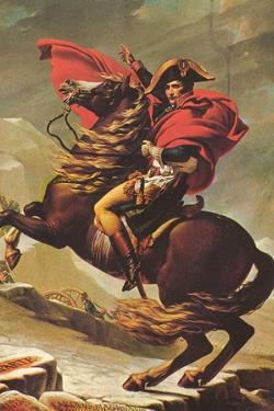 Jacques-Louis David (Napoleon Crossing the Alps) Plastic Sign by Jacques-Louis David