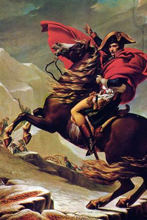 Jacques-Louis David (Napoleon Crossing the Alps) by Jacques-Louis David