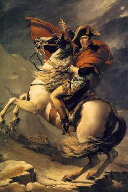Jacques-Louis David (Napoleon exceed the great St. Bernard Pass) by Jacques-Louis David