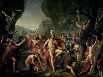 Leonidas at Thermopylae, 480 BC, 1814 by Jacques-Louis David