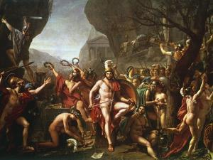 Leonidas at Thermopylae, 5th Century BC by Jacques-Louis David