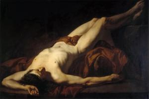 Male Nude (Hecto) by Jacques Louis David