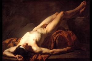 Male Nude; Hector by Jacques-Louis David