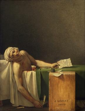 Marat Assassinated (The Death of Marat) by Jacques-Louis David by Jacques-Louis David
