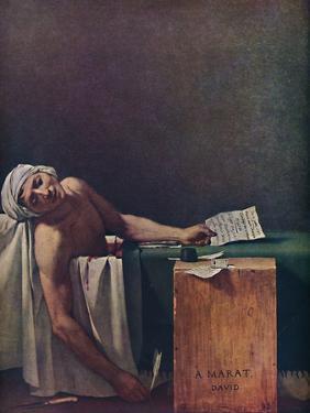 'Marat assassine', (The Death of Marat), 1793, (1937) by Jacques-Louis David