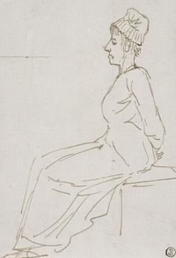 Marie-Antoinette conduite au supplice le 16 octobre 1793 avec notes manuscrites. by Jacques-Louis David