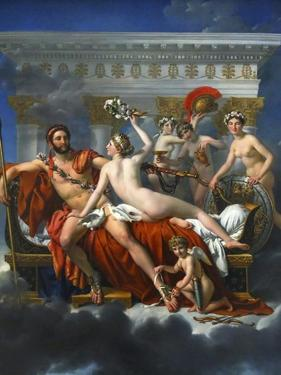 Mars Being Disarmed by Venus, 1824 by Jacques Louis David