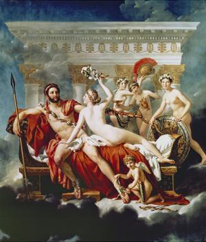 Mars Disarmed by Venus and the Graces by Jacques-Louis David
