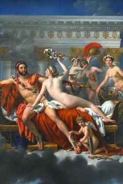 Mars Disarmed by Venus by Jacques-Louis David
