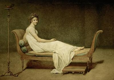 Mme Recamier nee Julie Bernard (1777-1849) by Jacques Louis David