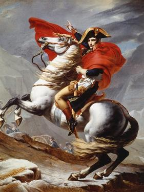 Napoleon Bonaparte, 1769-1821, Emperor of the French, Crossing the Alps by Jacques-Louis David