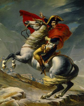 Napoleon Bonaparte Crossing the Grand Saint-Bernard Pass, May 20,1800 by Jacques-Louis David