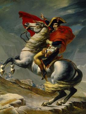 Napoleon Bonaparte Crossing the Grand Saint-Bernard Pass, May 20,1800 by Jacques-Louis David
