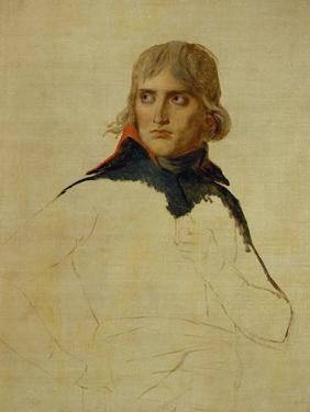 Napoleon Bonaparte, Study (1797/98) by Jacques-Louis David