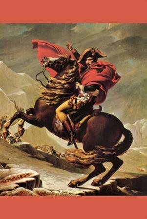 Napoleon Crosses The Great St. Bernard Pass by Jacques-Louis David