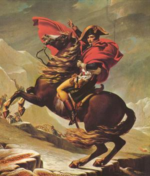 Jacques-Louis David (Napoleon Crossing the Alps) Art Poster Print