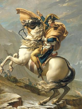 Napoleon Crossing the Alps at the St. Bernard Pass, 20th May 1800, circa 1800-01 by Jacques-Louis David