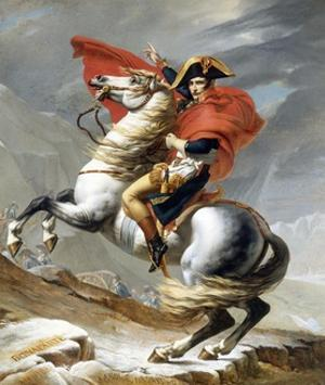 Napoleon Crossing the Saint-Bernard Pass by Jacques-Louis David