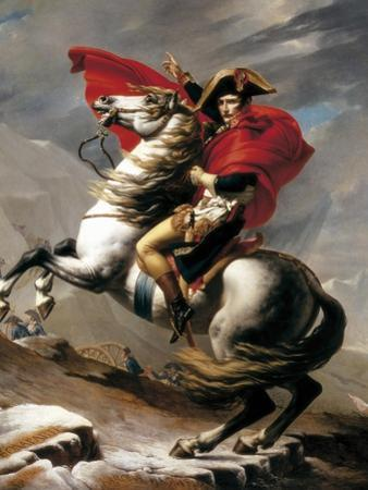 Napoleon Crossing the Saint Bernard by Jacques-Louis David