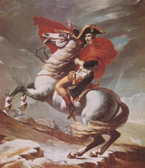 Napoleon Crossing the St. Bernard Pass, c.1801 by Jacques-Louis David