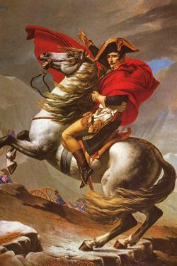 Jacques-Louis David (Napoleon exceed the great St. Bernard Pass) Plastic Sign