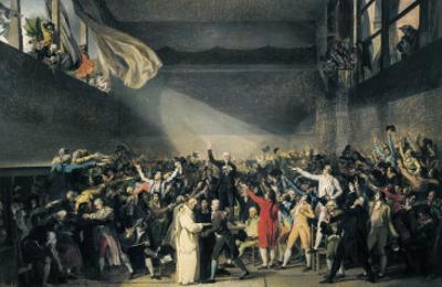 Oath Taken at the Jeu De Paume, 20 June 1789 by Jacques-Louis David