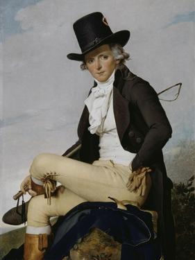 Pierre Sériziat, beau frère de l'artiste by Jacques-Louis David
