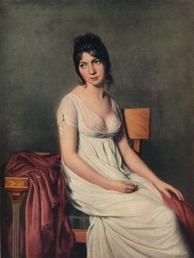 'Portrait of a Young Woman in White', 1798 by Jacques-Louis David