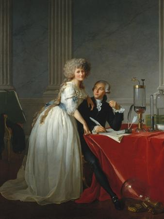 Portrait of French chemist Antoine Laurent Lavoisier with wife, 1788 by Jacques Louis David