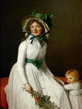 Portrait of Madame Pierre Seriziat and Her Son, Emile by Jacques Louis David