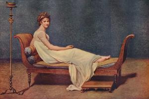 Portrait of Madame Recamier, 1800, (1911) by Jacques-Louis David