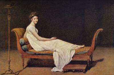 Portrait of Madame Récamier by Jacques-Louis David