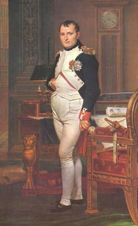Jacques-Louis David (Portrait of Napoleon in his work room) Art Poster Print