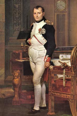 Portrait of Napoleon In His Work Room by Jacques-Louis David