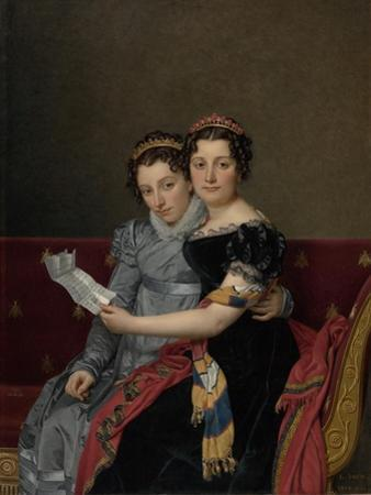 Portrait of the Sisters Zénaïde and Charlotte Bonaparte, 1821 by Jacques Louis David