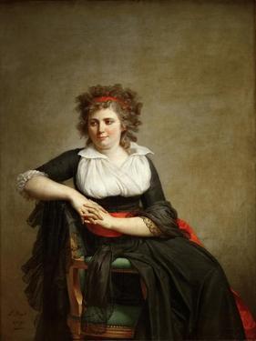 Robertine Tourteau, Marquise D'Orvilliers (1772-186) by Jacques Louis David