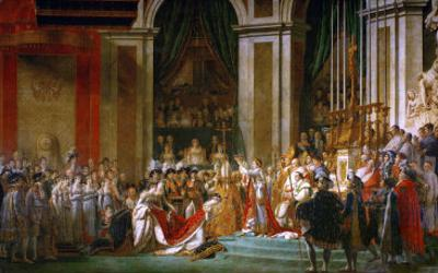 Sacre De Napoleon (Coronation) in Notre-Dame De Paris by Pope Pius VII, December 2, 1804 by Jacques-Louis David