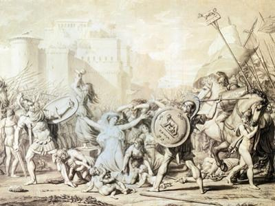 Study for Rape of Sabine Women by Jacques-Louis David