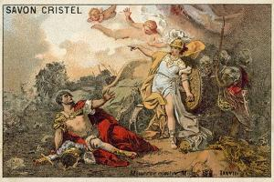 The Combat of Mars and Minerva by Jacques Louis David