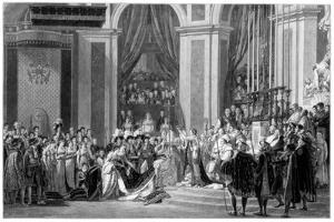 The Consecration of the Emperor Napoleon and the Coronation of the Empress Josephine, 1804 by Jacques-Louis David