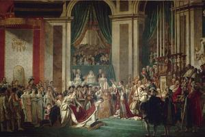 The Coronation of Napoleon, 1806-1807 by Jacques Louis David