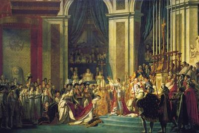 The Coronation of Napoleon at Notre-Dame De Paris on 2nd December 1804, 1807 by Jacques Louis David