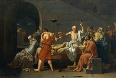 The Death of Socrates, 1787 by Jacques Louis David